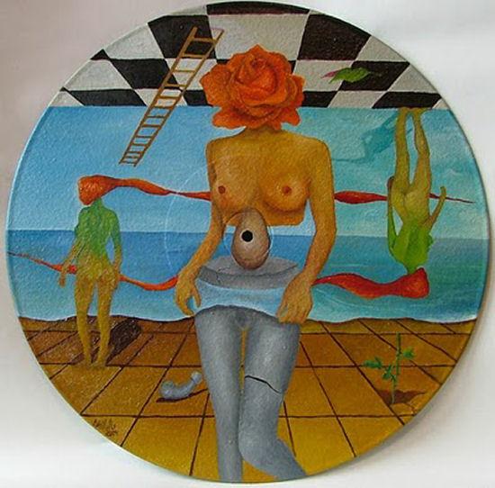 Impressive surrealist paintings of very expressive artist Attila Brushvox
