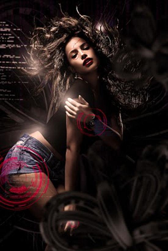Dark & interesting ladies photomanipulations by Irina Bogos