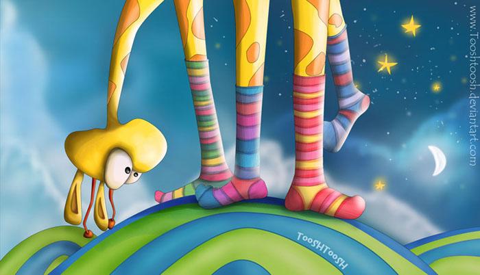 Beautiful art for children from Tooshtush (Efrat Vaadia)