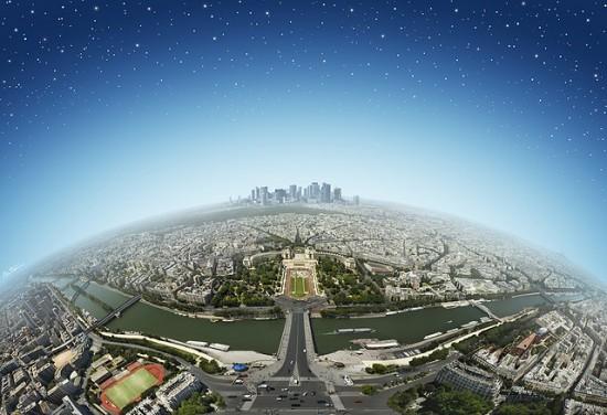 Breathtaking landscape photography from Ben Heine - paris from eiffel