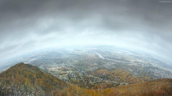 Breathtaking landscape photography from Ben Heine - Saint Hilaire Mount in Quebec, Canada
