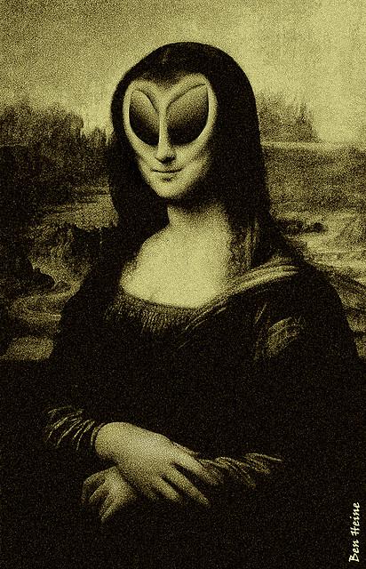 Ben Heine, fantastic artworks - MOderNA LISA!