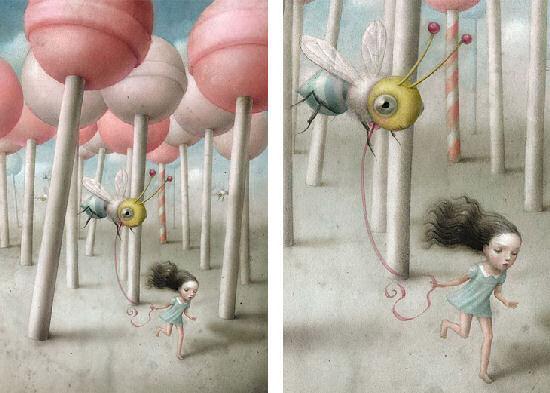 Strange and beautiful creature by Nicoletta Ceccoli