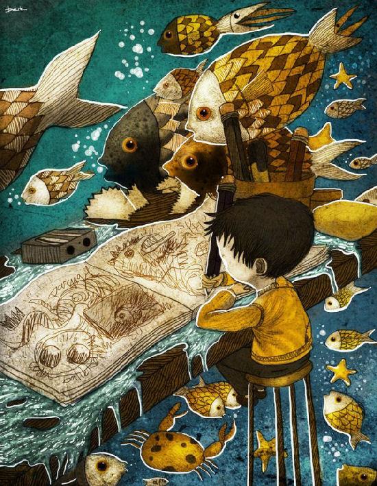 Childhood fantasies by Berk Öztürk