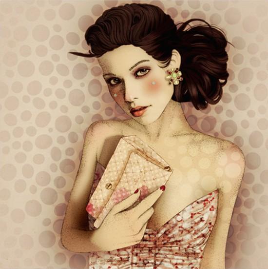 Joyful naive illustrations by Elodie Nadreau