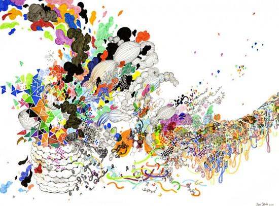 Cosmic dust in celestial colors by Jen Stark