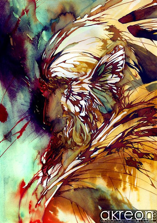 Striking inspirational paintings by akreon