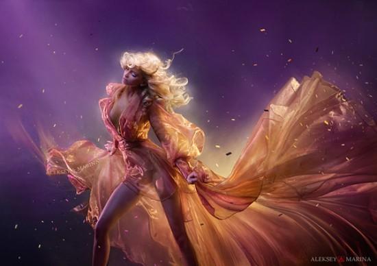 Colorful art photos of sweet girls by Aleksey Kozlov & Marina Khlebnikova