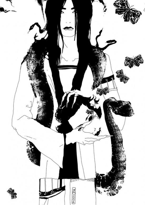 Stylish illustrations by Jany Moskaljuk
