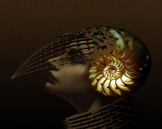 Cyberpunk prototype, surreal hybrid of man and machine by visionary artist Kazuhiko Nakamura
