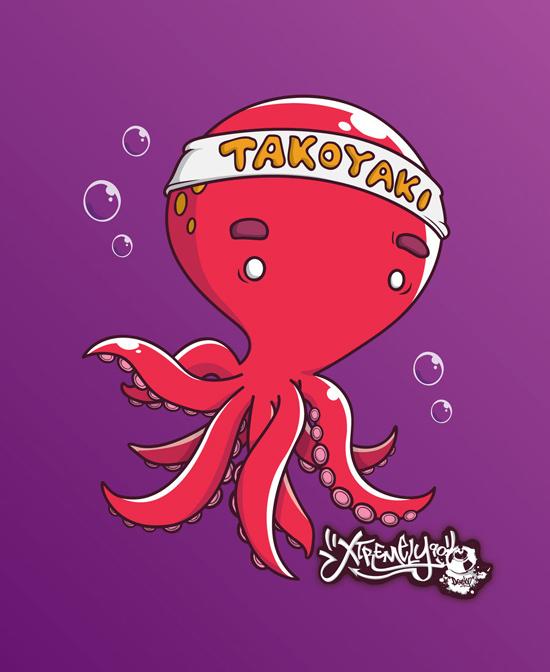 Cute monsters and characters from Shane Leong Kum Sheong - tokoyaki