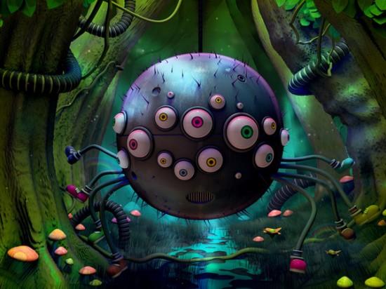 Joyful 3D characters, illustration by Jonathan Ball