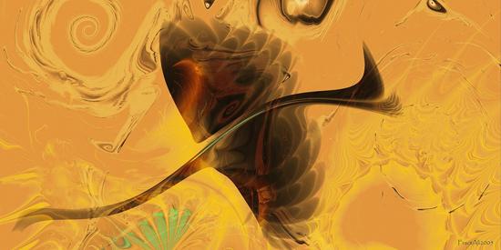 Heart and soul in fractal art by Ali Öner