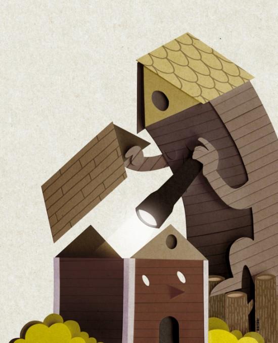 Amazing papercut by Bomboland
