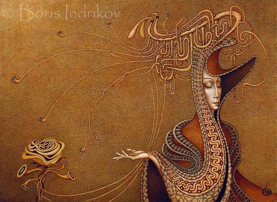 The rythm of lines, paintings by Boris Indrikov