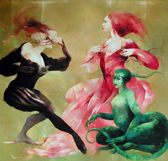 Highly imaginative metamorphosis: oil paintings by Anne Bachelier