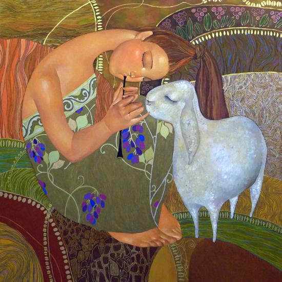 Creative oil paintings by Akzhana Abdalieva