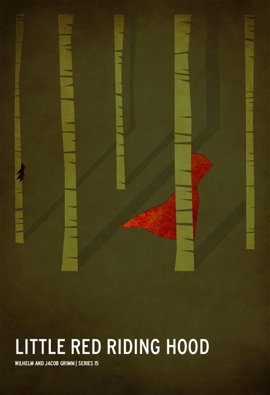 Minimalist fairy tale posters by Christian Jackson