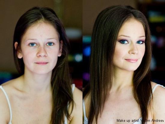 Makeup miracles: makeup artist, Vadim Andreev