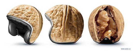 Genetic experiments on motorcycle helmets
