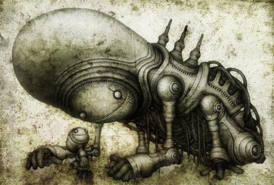 Mechanised creatures by Shingo Matsunuma