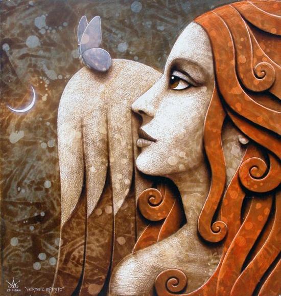 Totemic figures painted by Matteo Arfanotti