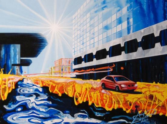 Amy Shackleton, urban-landscape paintings