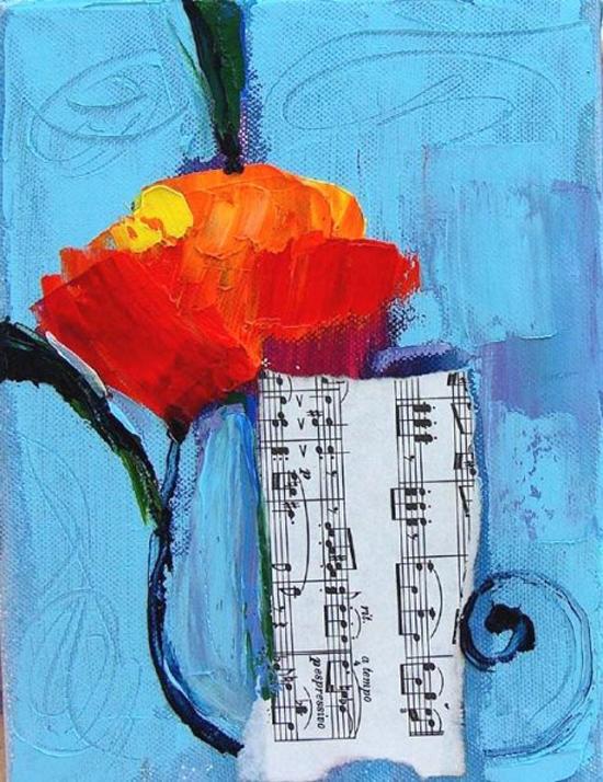 Musical notes by Maya Green