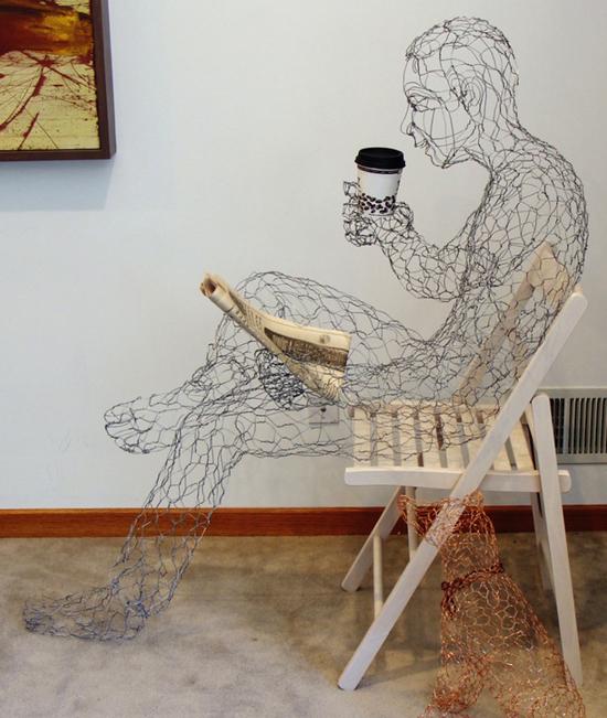 Coffee Man by sculptor Ruth Jensen