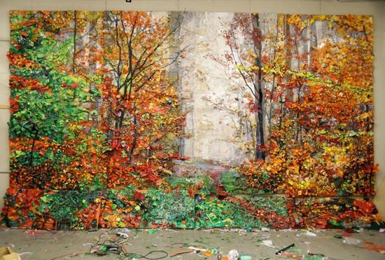 Landscape junk assemblages by Tom Deininger