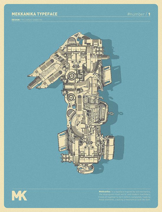 Mekkanika Typeface by Riccardo Sabatini