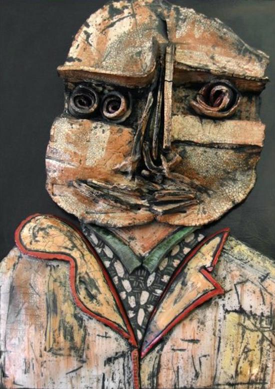 Raku sculpture by Dominique Allain