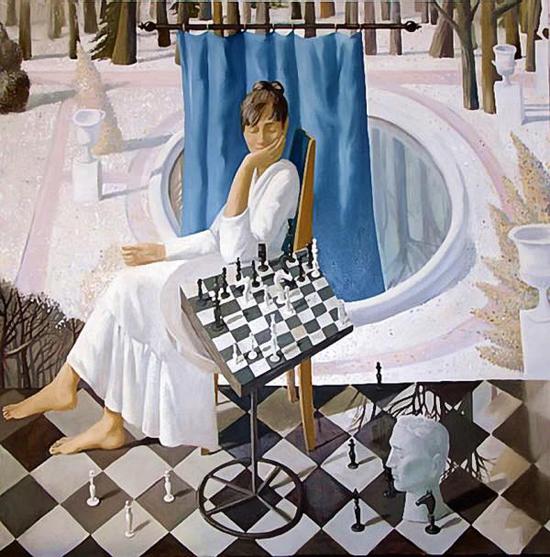 Agaphya Belaja, oil paintings