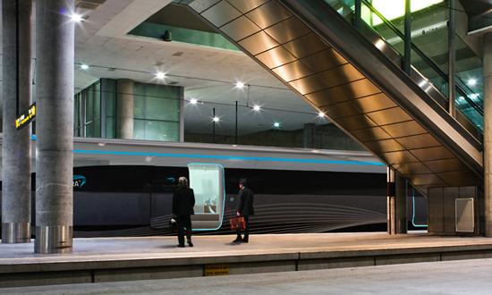 Aurora high-speed train, project by Henning Rekdal Nielsen