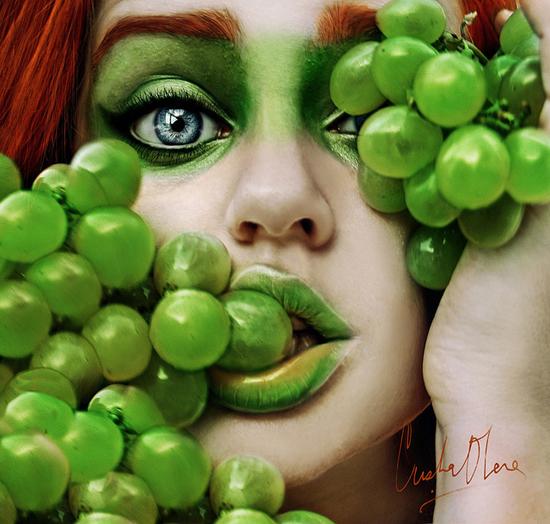Fresh tutti frutti, self portraits By Cristina Otero