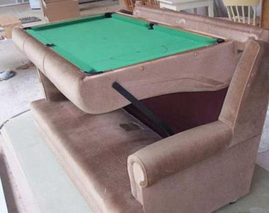 Unusual pool tables