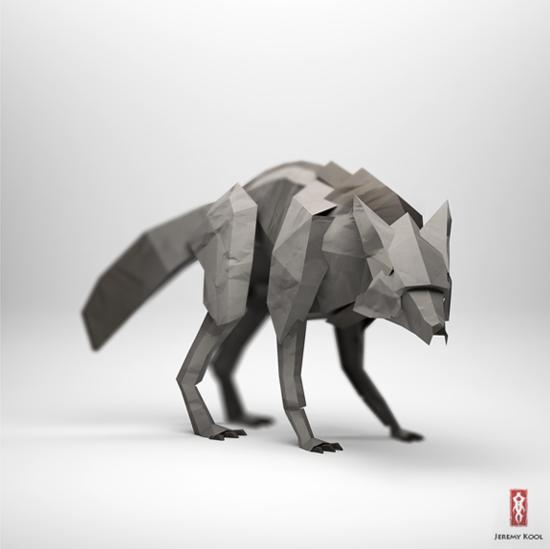 The paper fox project by Jeremy Kool