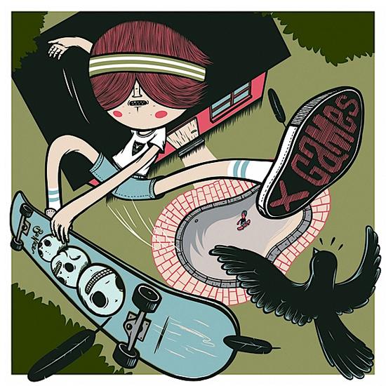 X Games 2011, illustration by Jordan Metcalf