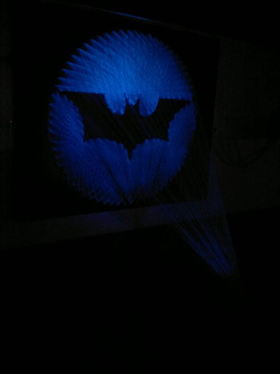 Street art and Bat-Signal – The creations of Stephen Ball