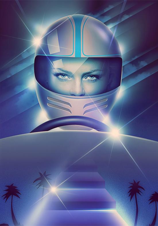 Retro futurism, illustration by Filipp Ryabchikov
