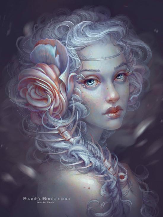 Digital painting by Jennifer Healy