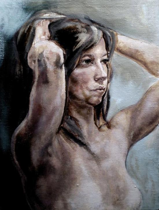 Veronika Priehodova, oil on canvas