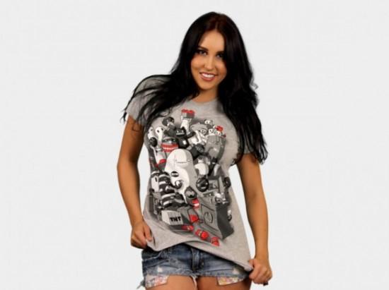 Kaboom womens custom t-shirt design by Coubo