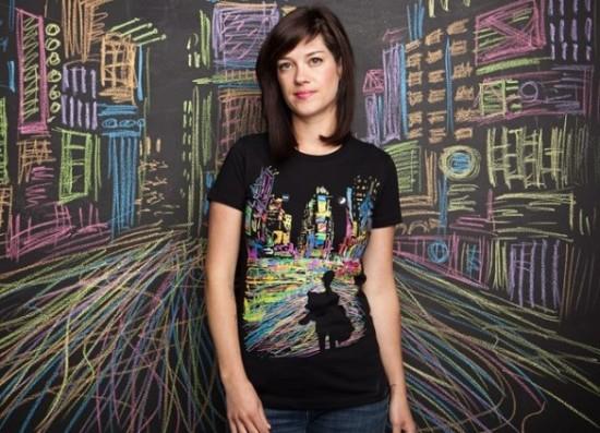 THE CITY THAT NEVER SLEEPS custom girl t-shirt design by Dina Prasetyawan