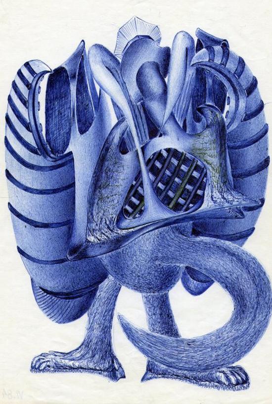 On the wings of imagination: ballpoint pen art by Blagojce Dumovski