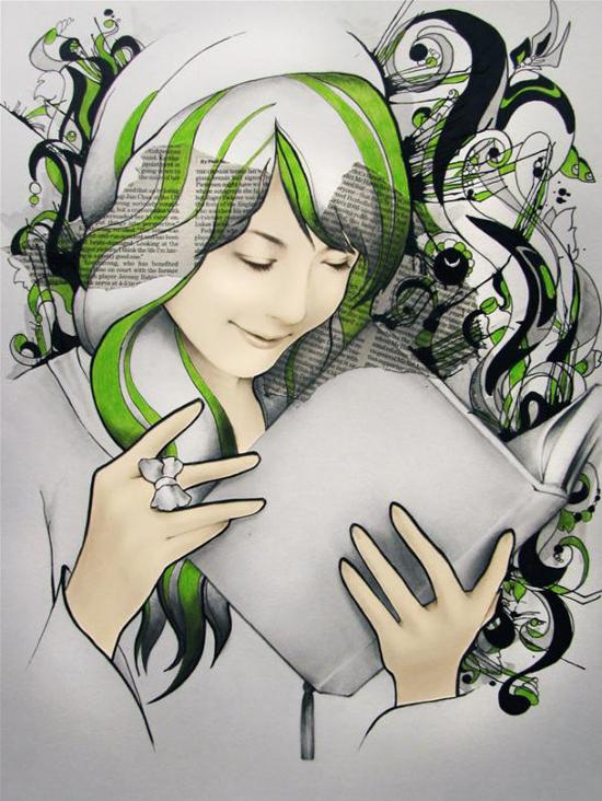 Joanna Ladowska, mixed media illustrations