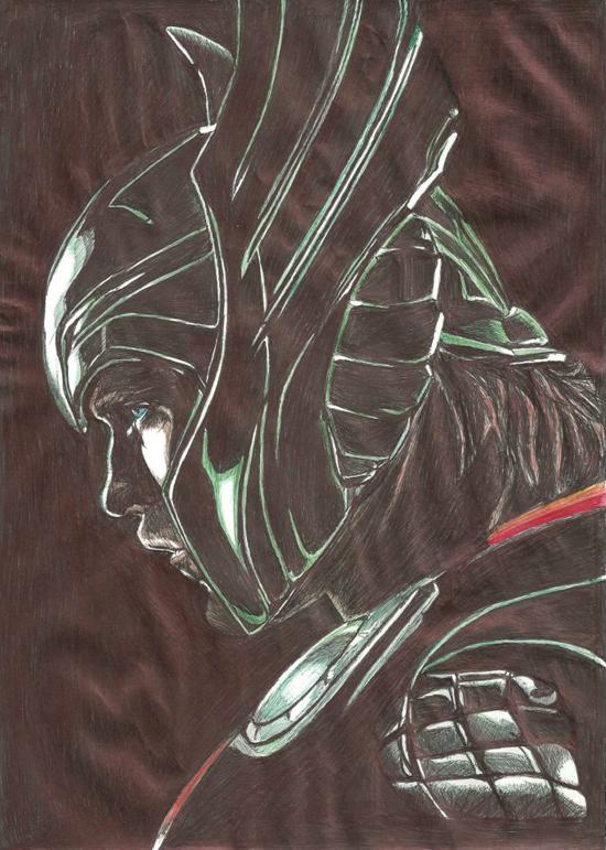 Evan Chung, ballpoint pen art