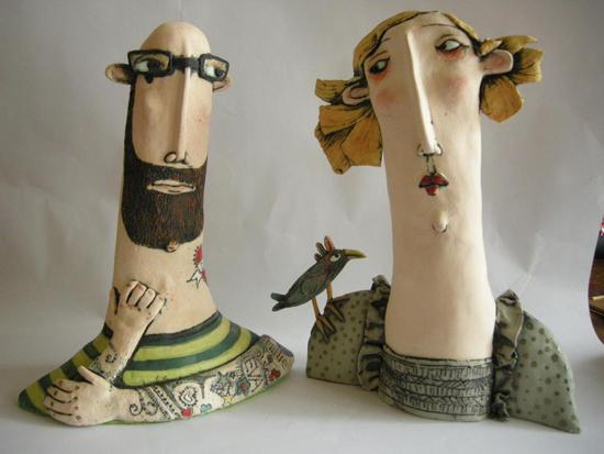Ceramic works by Sarah Saunders