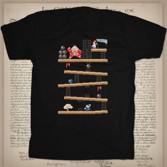 Donkey King game gaming games custom t-shirt design