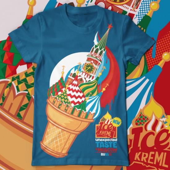 Ice Kremlin tee t-shirt design by Konstantin Shalev